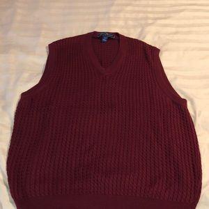 Alan Flusser dark red vest